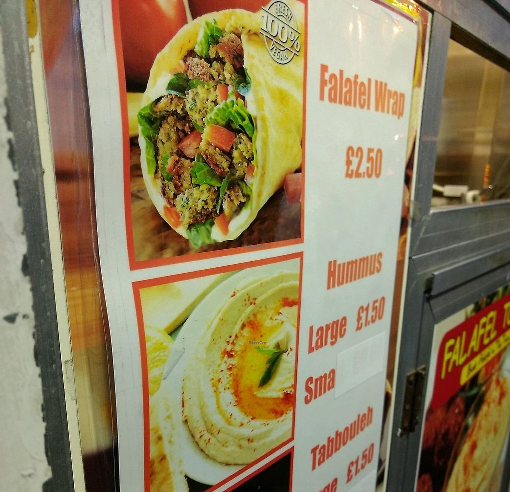 "Photo of Falafel To Go  by <a href=""/members/profile/craigmc"">craigmc</a> <br/>its says vegan <br/> October 27, 2017  - <a href='/contact/abuse/image/102994/325732'>Report</a>"