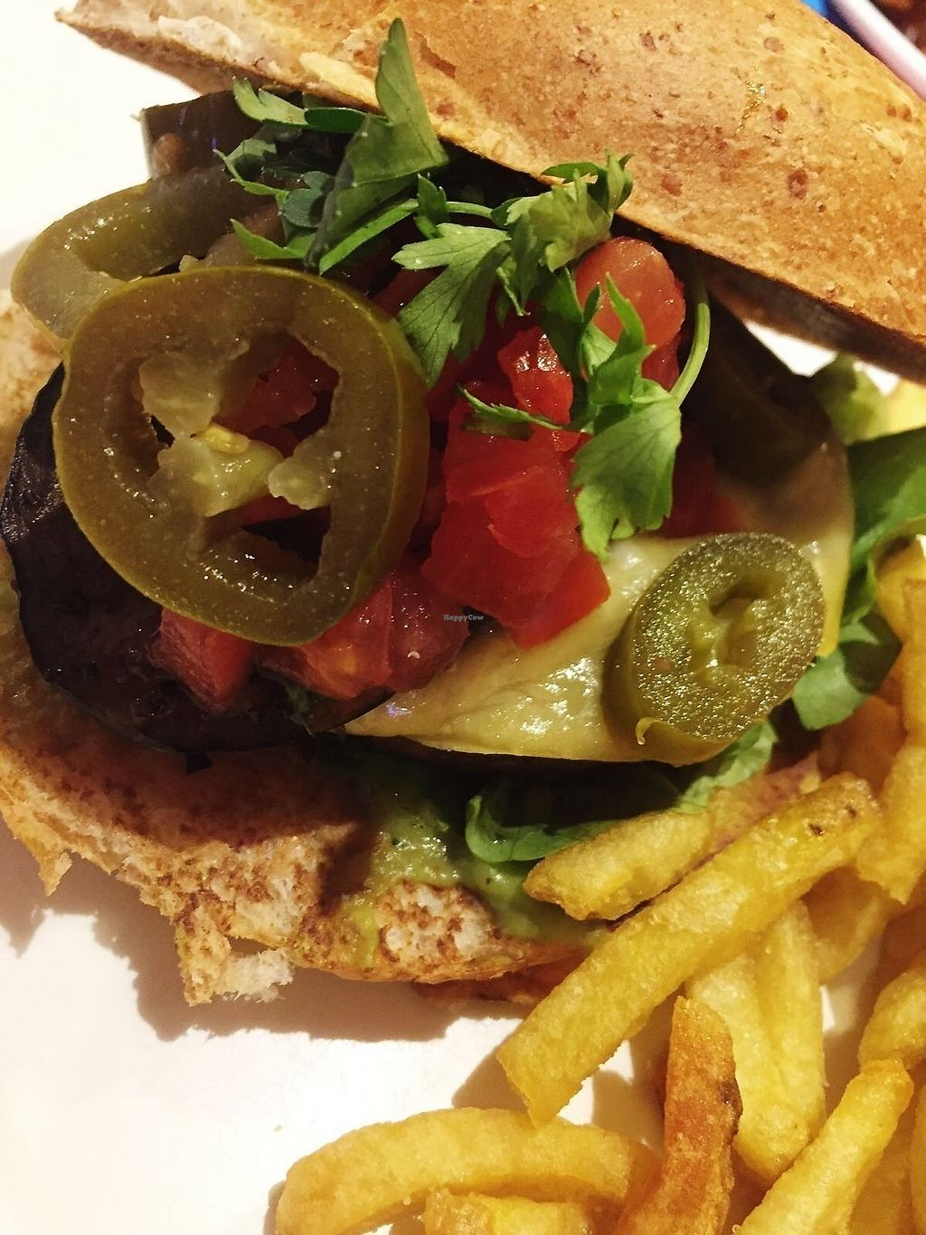 """Photo of HD Diner  by <a href=""""/members/profile/TARAMCDONALD"""">TARAMCDONALD</a> <br/>vegan burger with regular fries <br/> December 18, 2017  - <a href='/contact/abuse/image/103042/336685'>Report</a>"""