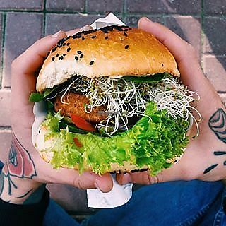 """Photo of Krowarzywa  by <a href=""""/members/profile/krzys108"""">krzys108</a> <br/>vegan burger <br/> January 26, 2018  - <a href='/contact/abuse/image/103058/351259'>Report</a>"""