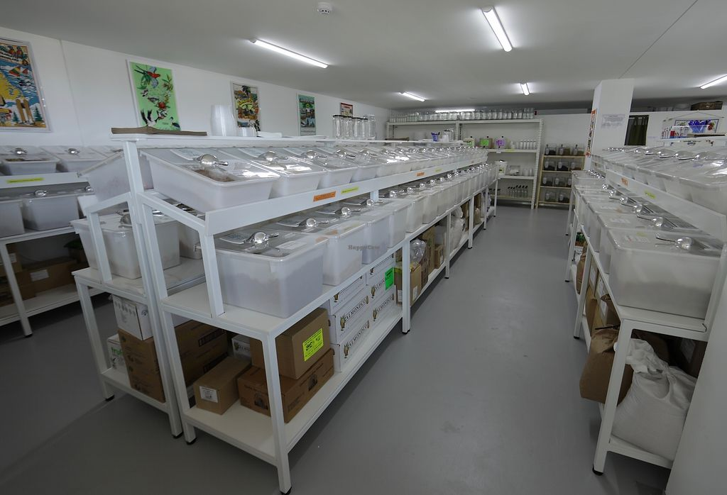 """Photo of Village Wholefoods & Bulk Foods  by <a href=""""/members/profile/Village_People"""">Village_People</a> <br/>Village Wholefoods Interior with Bins <br/> October 16, 2017  - <a href='/contact/abuse/image/103069/315967'>Report</a>"""