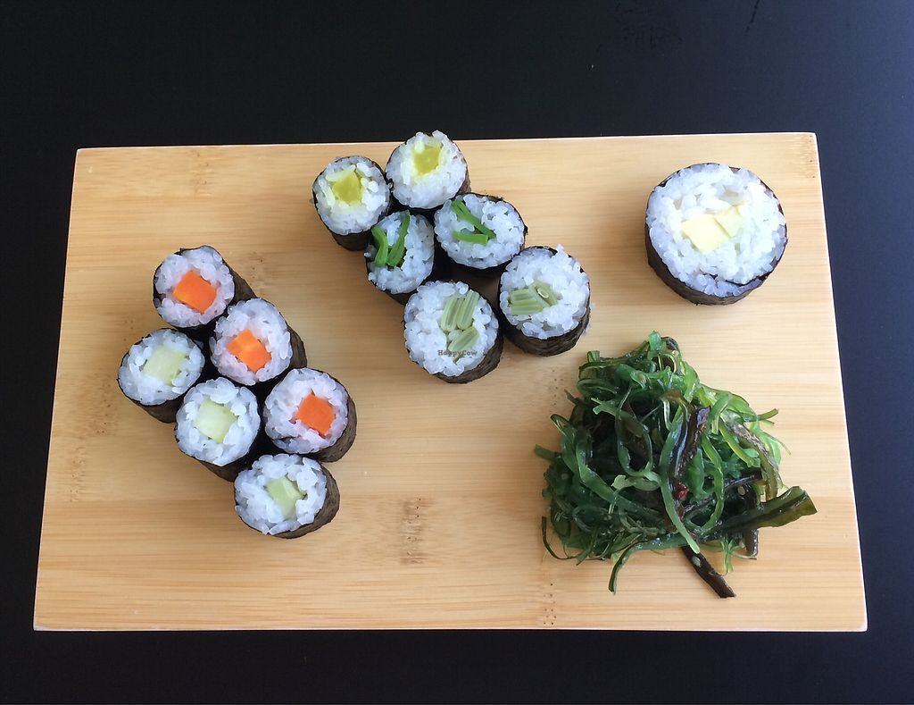 """Photo of Sushi Lädle  by <a href=""""/members/profile/Carissima"""">Carissima</a> <br/>Vegan sushi platter <br/> October 18, 2017  - <a href='/contact/abuse/image/103078/316314'>Report</a>"""