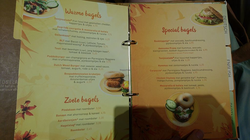"""Photo of Bagels & Beans  by <a href=""""/members/profile/Lisanneke"""">Lisanneke</a> <br/>Menu <br/> October 16, 2017  - <a href='/contact/abuse/image/103087/315974'>Report</a>"""