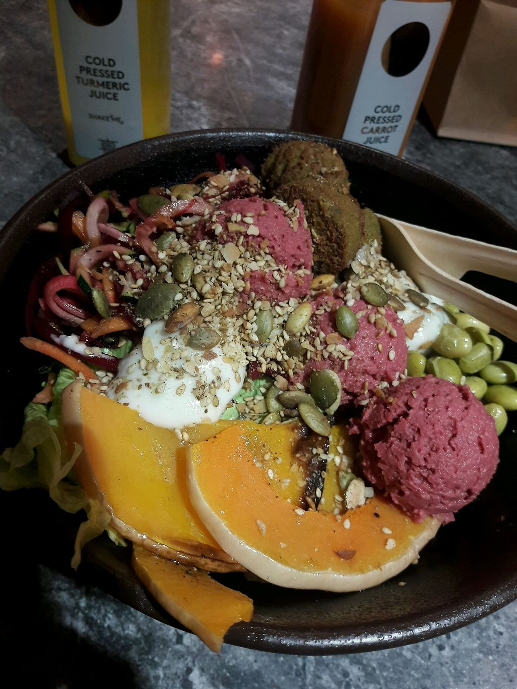 """Photo of Glo  by <a href=""""/members/profile/piffelina"""">piffelina</a> <br/>Falafel salad <br/> December 3, 2017  - <a href='/contact/abuse/image/103098/331678'>Report</a>"""