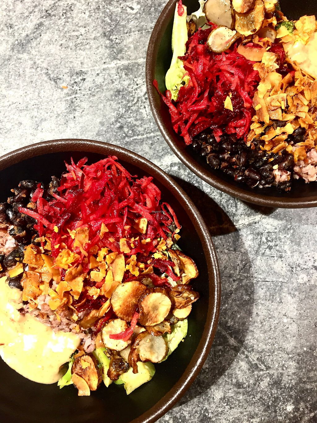 """Photo of Glo  by <a href=""""/members/profile/KatjaValentinaKramp"""">KatjaValentinaKramp</a> <br/>Winter bowl with black rice, beets, sweet potatoes etc <br/> February 3, 2018  - <a href='/contact/abuse/image/103098/354254'>Report</a>"""