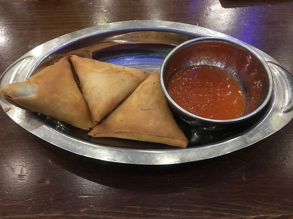 "Photo of Crispy Dosa  by <a href=""/members/profile/Nanna"">Nanna</a> <br/>Veggie Samosa <br/> October 18, 2017  - <a href='/contact/abuse/image/103103/316460'>Report</a>"