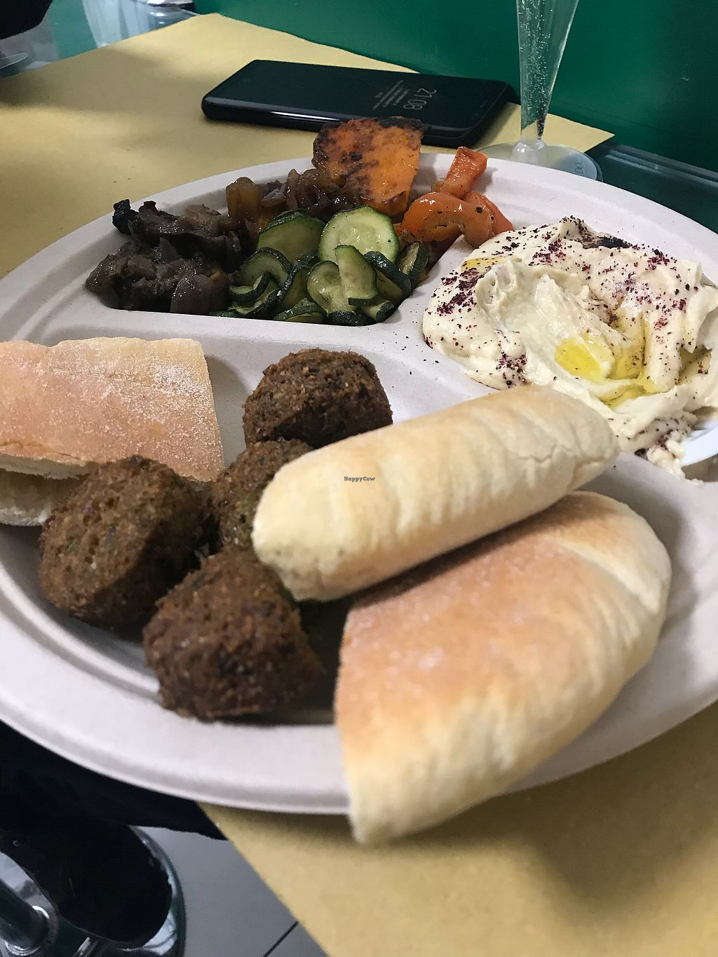 """Photo of Punto Veg  by <a href=""""/members/profile/joanarita"""">joanarita</a> <br/>Mixed plate with hummus, falafel and grilled vegetables  <br/> February 18, 2018  - <a href='/contact/abuse/image/103123/360939'>Report</a>"""