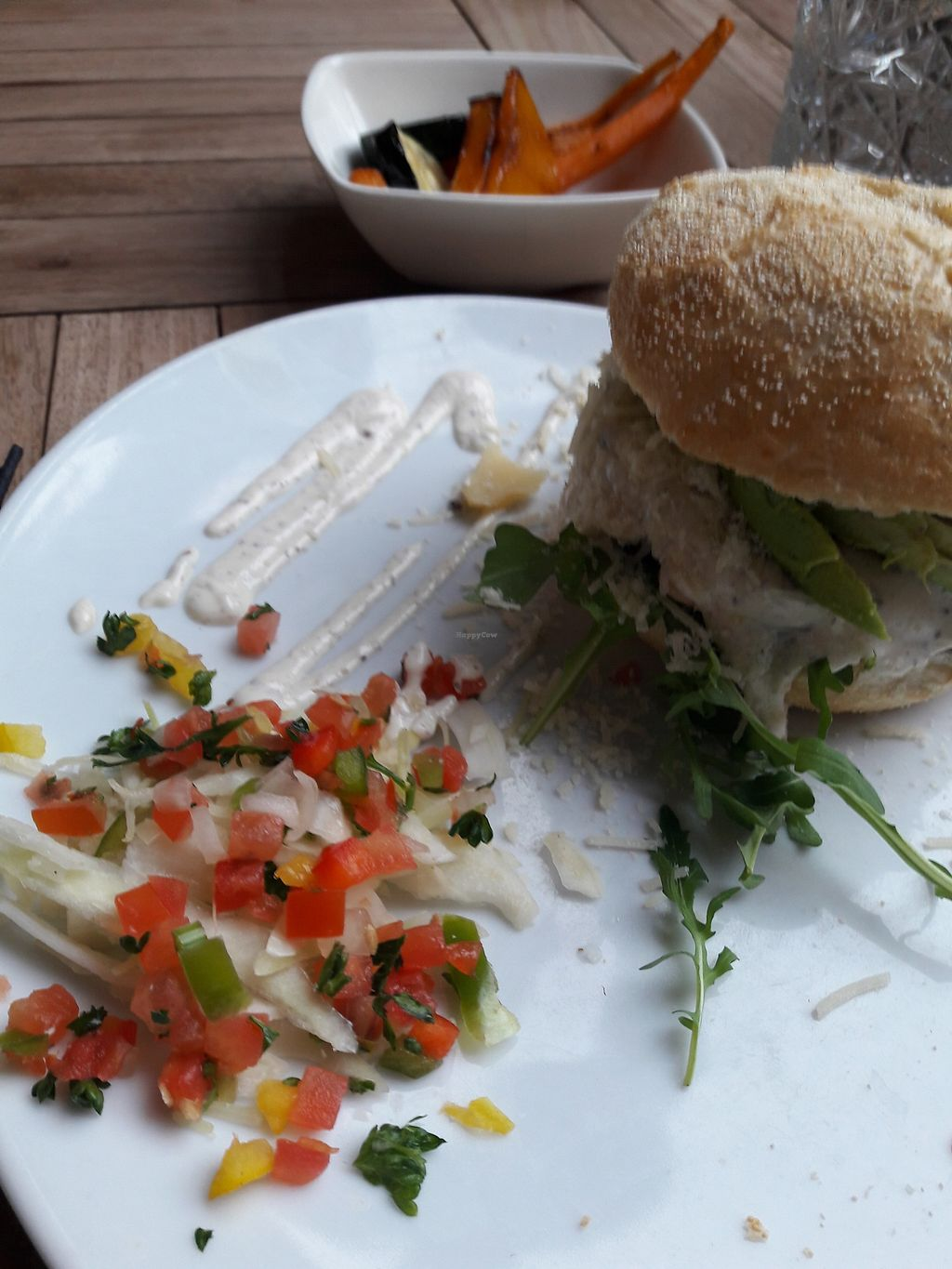 """Photo of Wieck  by <a href=""""/members/profile/Julia_NL"""">Julia_NL</a> <br/>Burger and grilled veggies on the side <br/> November 12, 2017  - <a href='/contact/abuse/image/103152/324832'>Report</a>"""