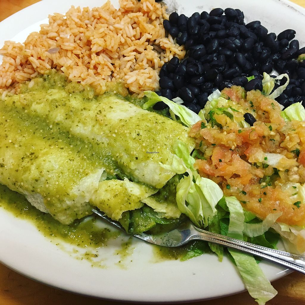"""Photo of Sonoma Taco Shop  by <a href=""""/members/profile/AuntStaceysCats"""">AuntStaceysCats</a> <br/>Vegan Veggie Enchiladas  <br/> January 15, 2018  - <a href='/contact/abuse/image/103167/346828'>Report</a>"""