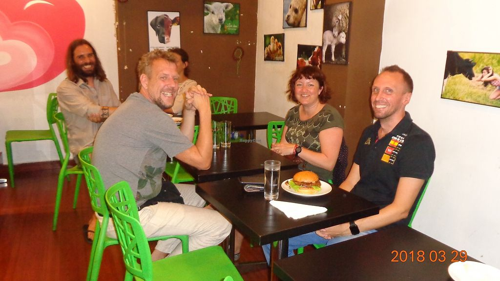 """Photo of The VOV Coffee Lounge  by <a href=""""/members/profile/nsivarama"""">nsivarama</a> <br/>Customers enjoying a vegan meal <br/> April 1, 2018  - <a href='/contact/abuse/image/103177/379271'>Report</a>"""