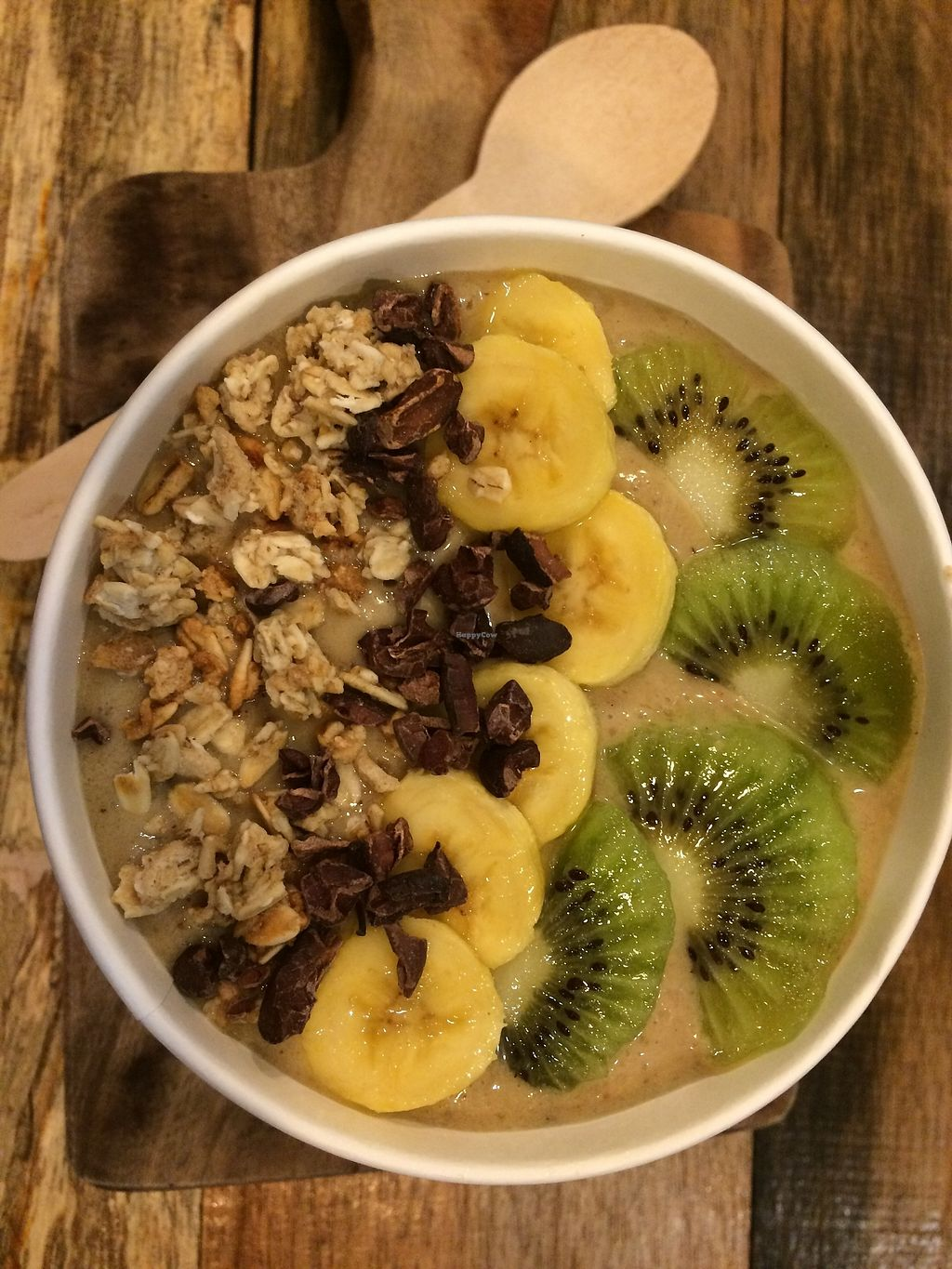"Photo of Glow Juice Box  by <a href=""/members/profile/glowjuicebox"">glowjuicebox</a> <br/>smoothie bowl - Kiwi Delight with raw cacao nibs and granola <br/> October 22, 2017  - <a href='/contact/abuse/image/103195/317594'>Report</a>"