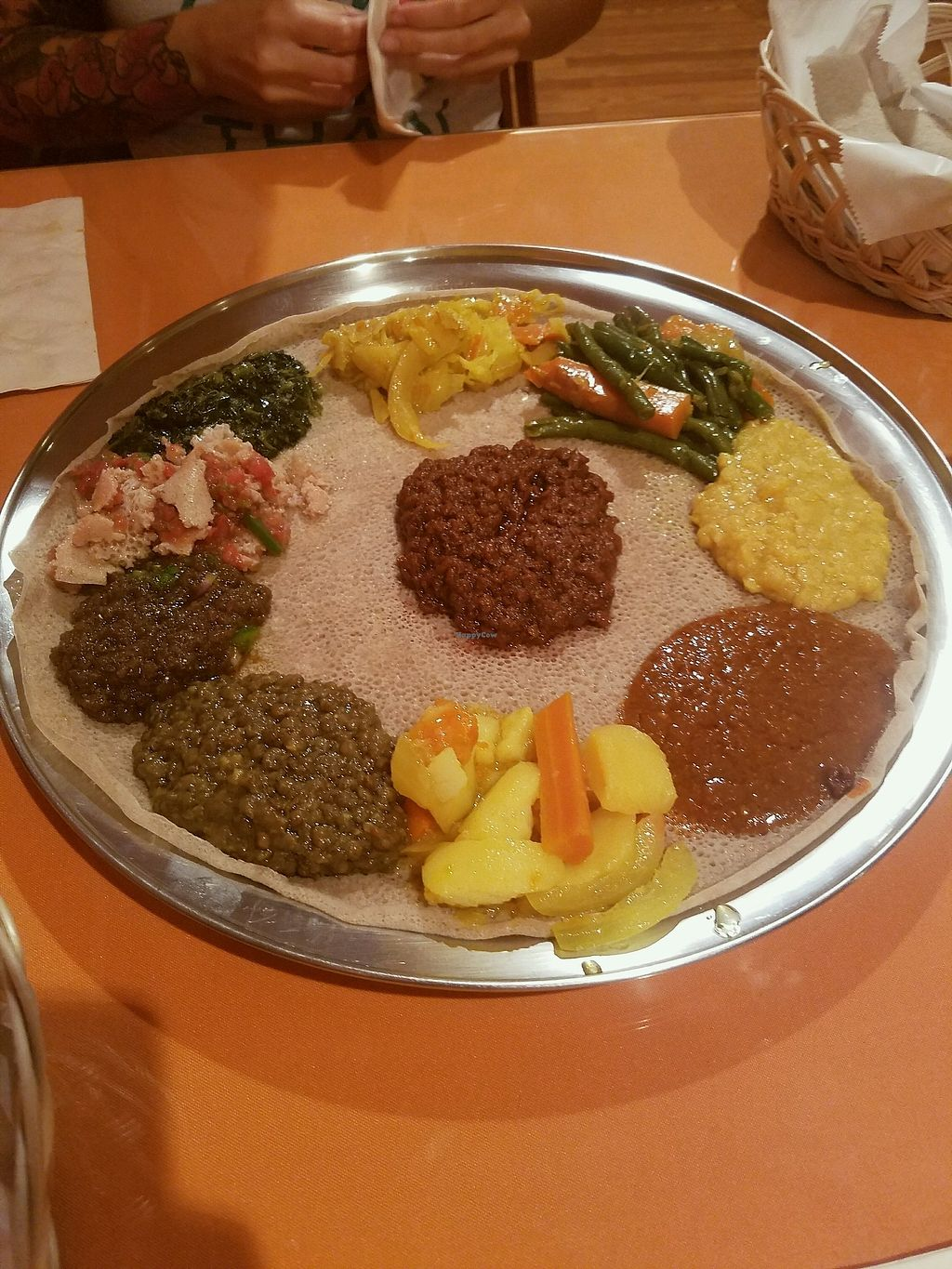 "Photo of Enatye Ethiopian Restaurant  by <a href=""/members/profile/JeremyFromm"">JeremyFromm</a> <br/>10 veggie combo <br/> October 20, 2017  - <a href='/contact/abuse/image/103220/317101'>Report</a>"