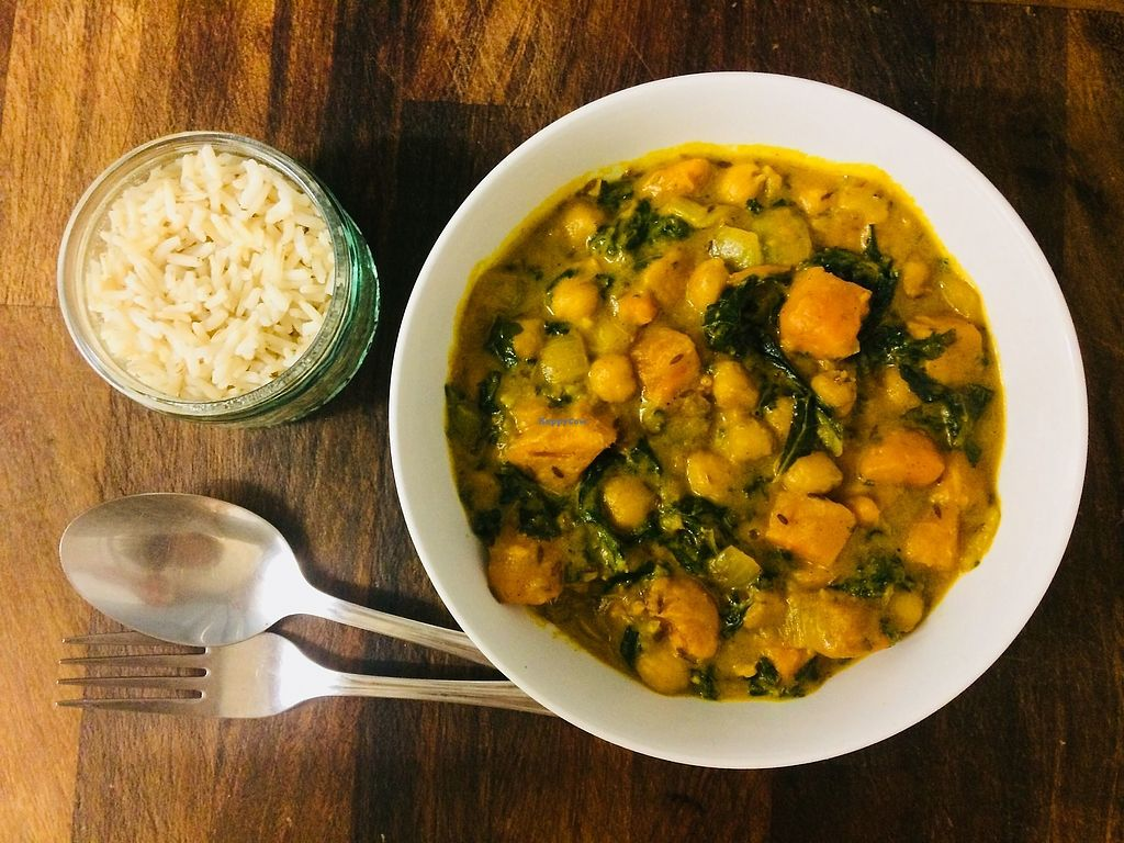 """Photo of Glo Foods  by <a href=""""/members/profile/glofoodsuk"""">glofoodsuk</a> <br/>Meal Package: Chickpea and Coconut Curry Ingredients and recipe card delivered to your door. Glofoods.co.uk  <br/> October 21, 2017  - <a href='/contact/abuse/image/103269/317245'>Report</a>"""