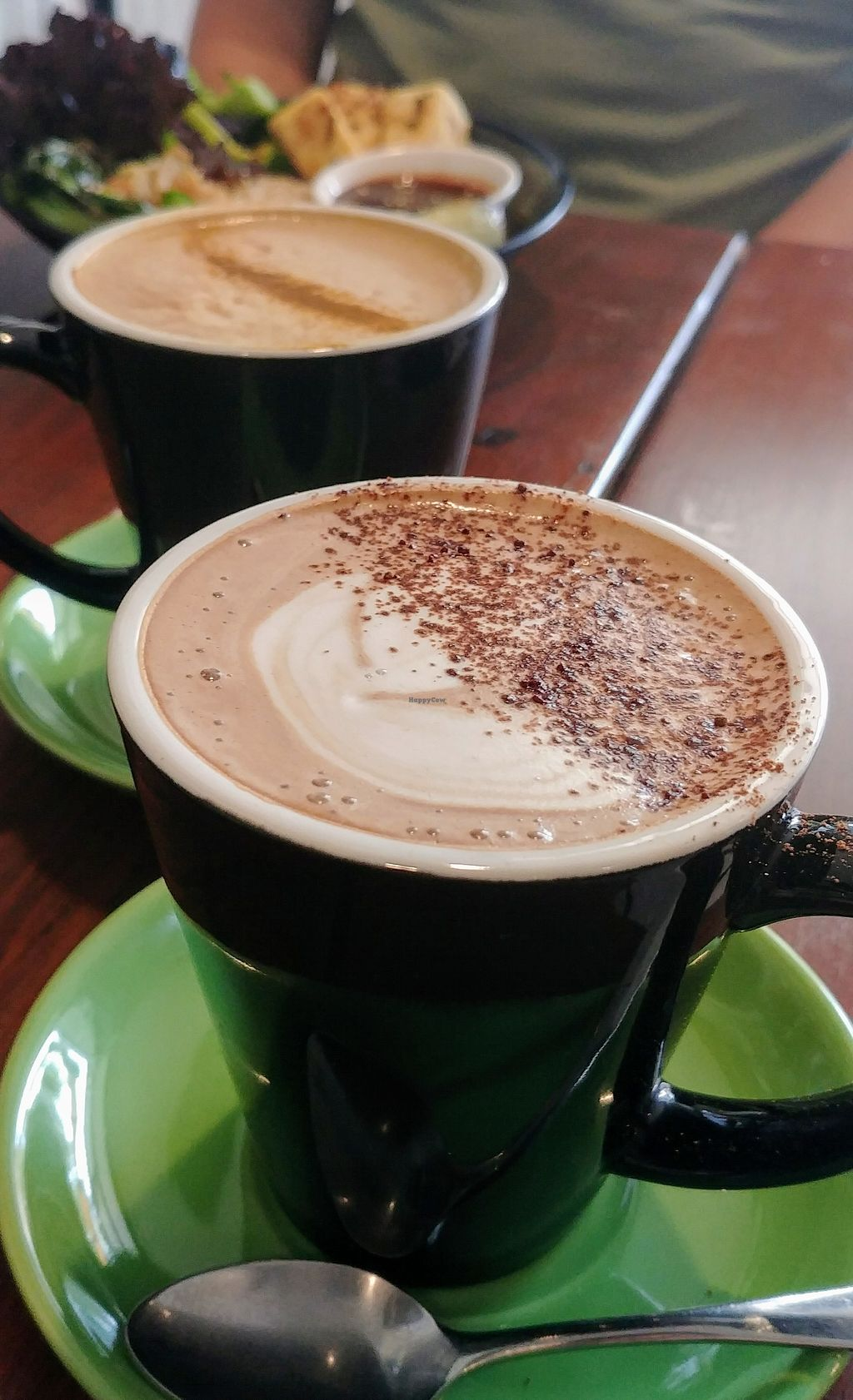 """Photo of SoulPod Foods  by <a href=""""/members/profile/karlaess"""">karlaess</a> <br/>Dirty chai (back) & hot chocolate (front) <br/> March 2, 2018  - <a href='/contact/abuse/image/103284/365610'>Report</a>"""