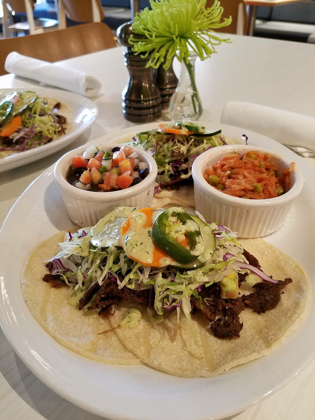 """Photo of Hungry's  by <a href=""""/members/profile/ChristineLee"""">ChristineLee</a> <br/>Spicy Seitan Tacos w/ avocado relish & aioli.  <br/> October 20, 2017  - <a href='/contact/abuse/image/103326/317089'>Report</a>"""