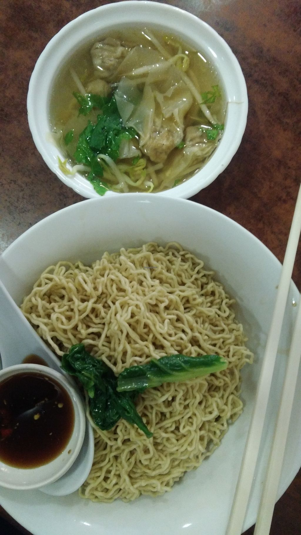 Photo of Wonderful Veggie  by oiabu <br/>Kolo mee with dumpling (mock meat) soup <br/> October 24, 2017  - <a href='/contact/abuse/image/103337/318229'>Report</a>