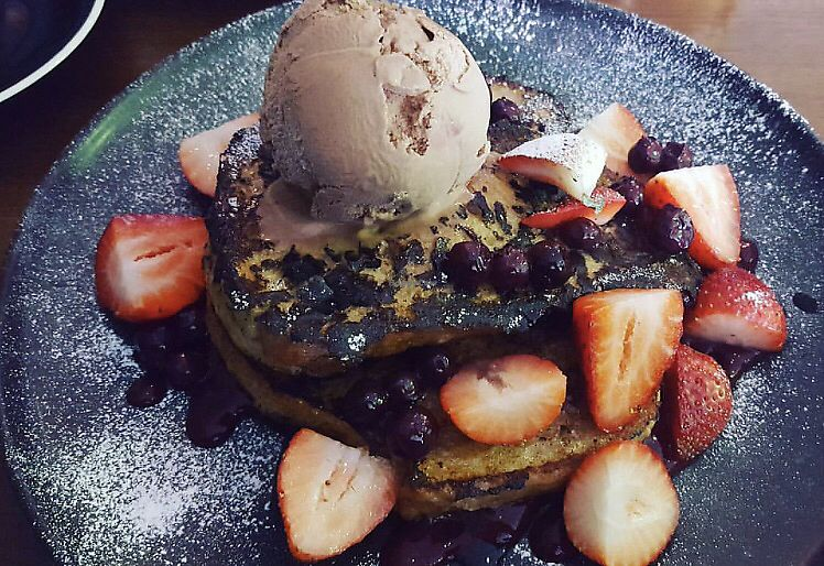 """Photo of The Natural Choice Cafe  by <a href=""""/members/profile/moniquechaplin"""">moniquechaplin</a> <br/>vegan french toast <br/> October 22, 2017  - <a href='/contact/abuse/image/103362/317615'>Report</a>"""