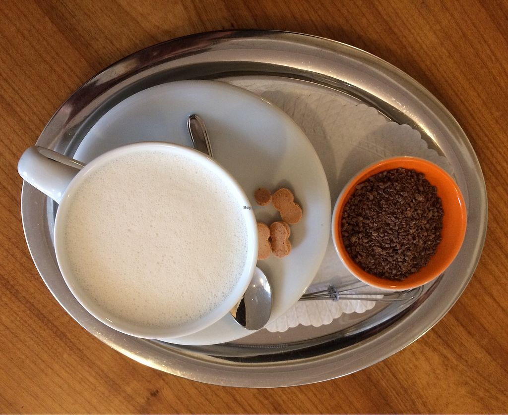 """Photo of Cafe am Rathaus   by <a href=""""/members/profile/Carissima"""">Carissima</a> <br/>Yucatán Chili Fire hot chocolate made with oat milk (before mixing) <br/> November 4, 2017  - <a href='/contact/abuse/image/103363/321670'>Report</a>"""