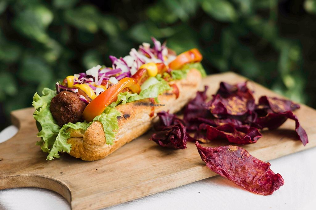 """Photo of Burgreens - Pacific Place Mall  by <a href=""""/members/profile/LisaLie"""">LisaLie</a> <br/>Vegan Hotdog  <br/> October 30, 2017  - <a href='/contact/abuse/image/103369/320062'>Report</a>"""