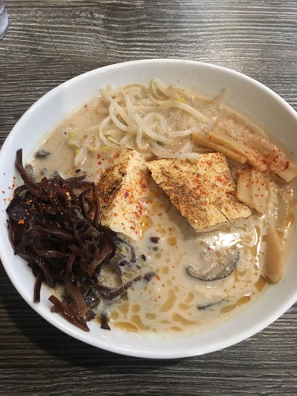 "Photo of Ramen Instant  by <a href=""/members/profile/jamiemichelle_xvx"">jamiemichelle_xvx</a> <br/>Vegan soup with tofu steak, bean sprouts, black mushrooms, and bamboo shoots <br/> April 8, 2018  - <a href='/contact/abuse/image/103380/382181'>Report</a>"