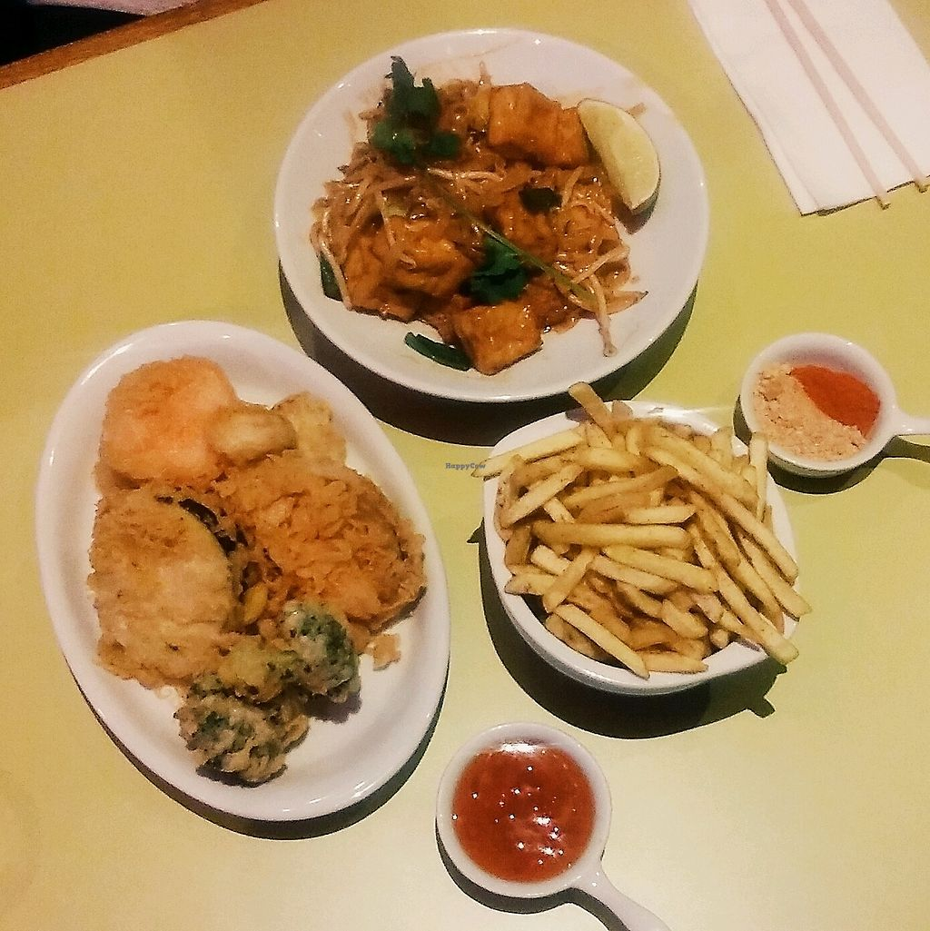 "Photo of Nam Tuk Tram Stop  by <a href=""/members/profile/unmond"">unmond</a> <br/>Vegetable Tempura, Asian Spiced Fries, Tofu Pad Thai (all vegan) <br/> March 5, 2018  - <a href='/contact/abuse/image/103412/367208'>Report</a>"