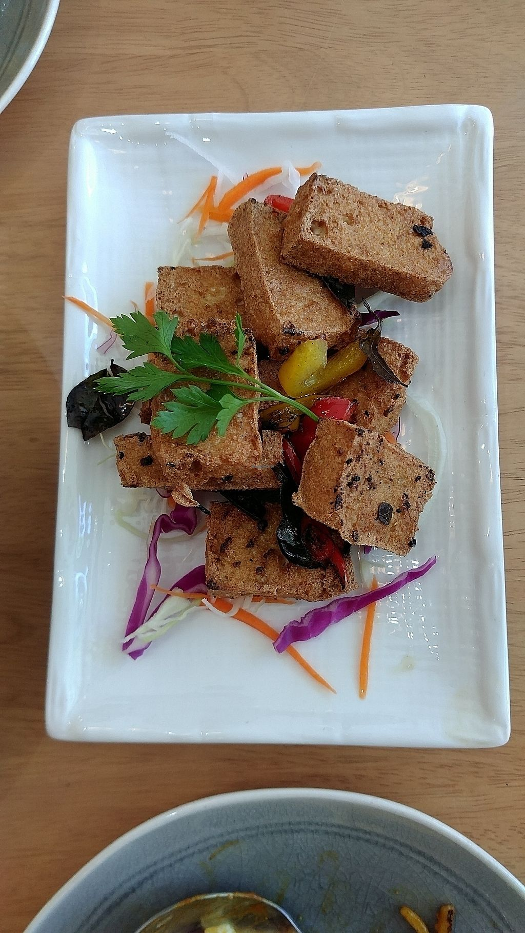 """Photo of Vegieria  by <a href=""""/members/profile/vegelover"""">vegelover</a> <br/>Salt & Pepper Crispy Tofu <br/> February 17, 2018  - <a href='/contact/abuse/image/103413/360196'>Report</a>"""