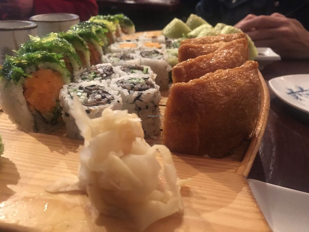 """Photo of Sima Sushi  by <a href=""""/members/profile/ecampbell"""">ecampbell</a> <br/>Inari roll, shitake mushroom roll, and hilda roll (without spicy mayo) <br/> November 8, 2017  - <a href='/contact/abuse/image/103430/323128'>Report</a>"""