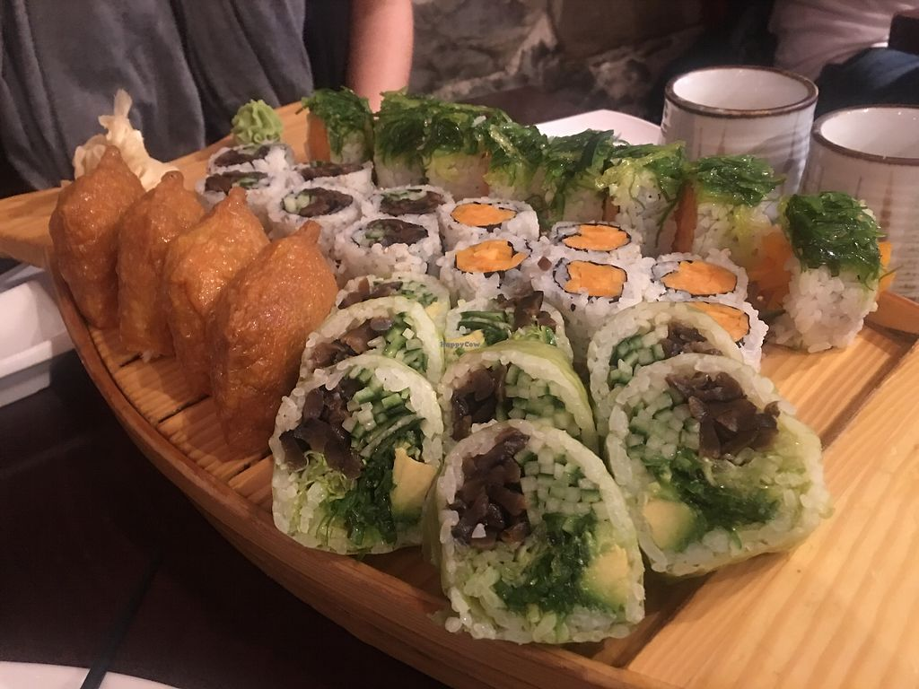 """Photo of Sima Sushi  by <a href=""""/members/profile/ecampbell"""">ecampbell</a> <br/>Roll with Wakame (seaweed salad) inside! <br/> November 8, 2017  - <a href='/contact/abuse/image/103430/323129'>Report</a>"""