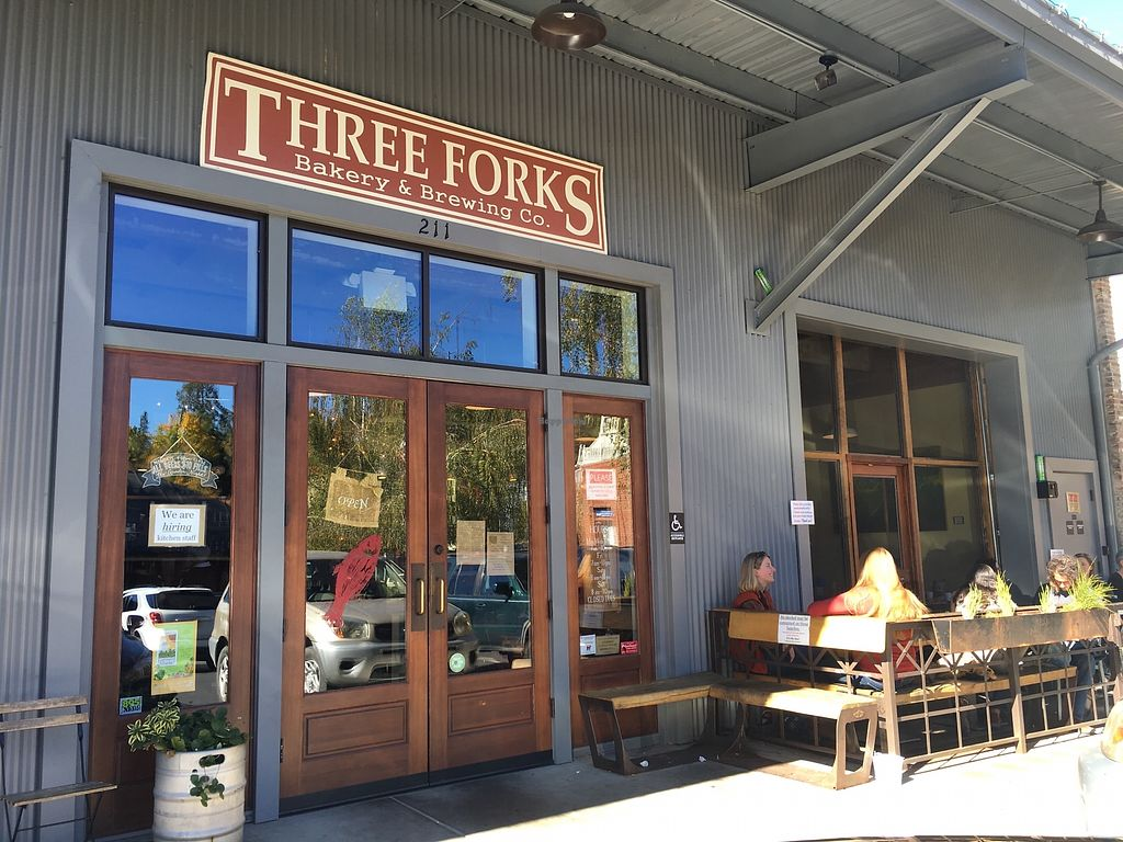 "Photo of Three Forks Bakery & Brewing Company  by <a href=""/members/profile/veganmom"">veganmom</a> <br/>Outside <br/> October 22, 2017  - <a href='/contact/abuse/image/103439/317802'>Report</a>"