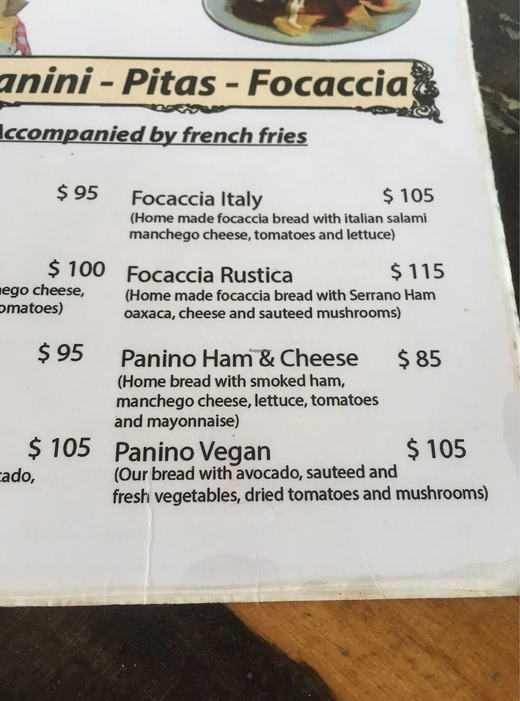 """Photo of La Tortilleria  by <a href=""""/members/profile/Sterling"""">Sterling</a> <br/>Menu page 2 <br/> October 26, 2017  - <a href='/contact/abuse/image/103448/318927'>Report</a>"""