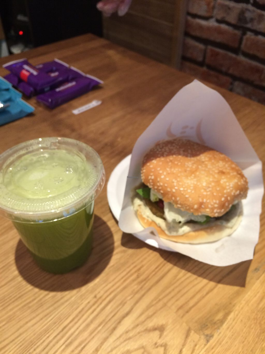 """Photo of Habits Coffee  by <a href=""""/members/profile/TDHill"""">TDHill</a> <br/>Falafel burger and fresh juices <br/> October 23, 2017  - <a href='/contact/abuse/image/103452/317867'>Report</a>"""