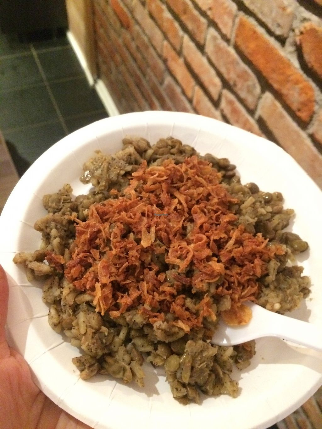 """Photo of Habits Coffee  by <a href=""""/members/profile/TDHill"""">TDHill</a> <br/>Sample of another delicious vegan dish (Not sure what it was, but it was good! :) ) <br/> October 23, 2017  - <a href='/contact/abuse/image/103452/317872'>Report</a>"""