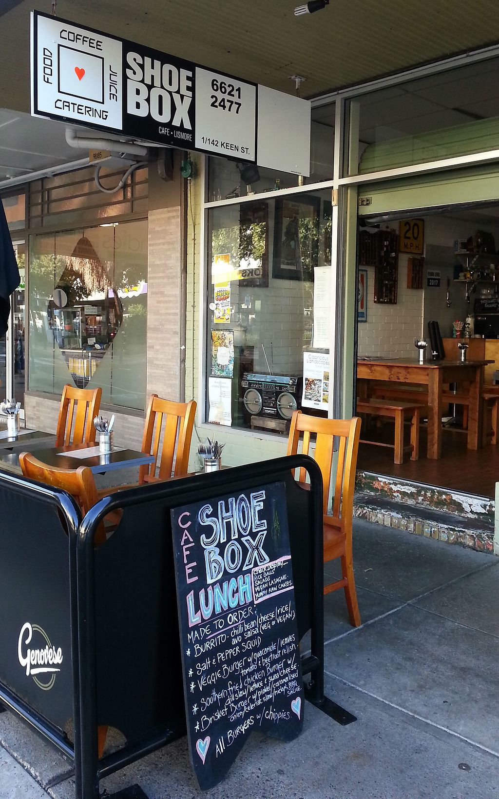 """Photo of The ShoeBox Cafe  by <a href=""""/members/profile/sunsatori"""">sunsatori</a> <br/>The ShoeBox Cafe Lismore <br/> October 23, 2017  - <a href='/contact/abuse/image/103464/318140'>Report</a>"""