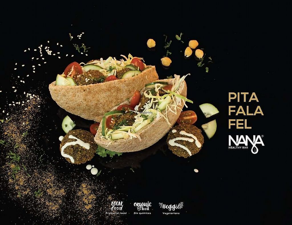 """Photo of Nana Falafel & Juice Bar  by <a href=""""/members/profile/NanaFalafel"""">NanaFalafel</a> <br/>Falafel pita, local, fresh organic. Gluten free options available <br/> October 26, 2017  - <a href='/contact/abuse/image/103466/319051'>Report</a>"""