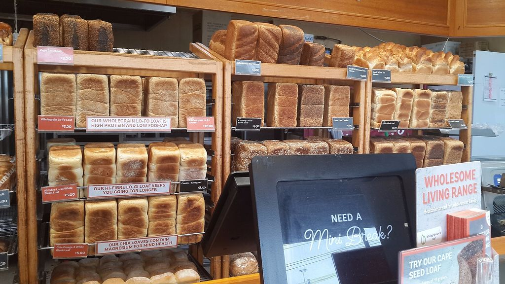 """Photo of Bakers Delight - New Lynn  by <a href=""""/members/profile/lotus.light"""">lotus.light</a> <br/>Most of the breads are vegan <br/> November 5, 2017  - <a href='/contact/abuse/image/103470/321898'>Report</a>"""