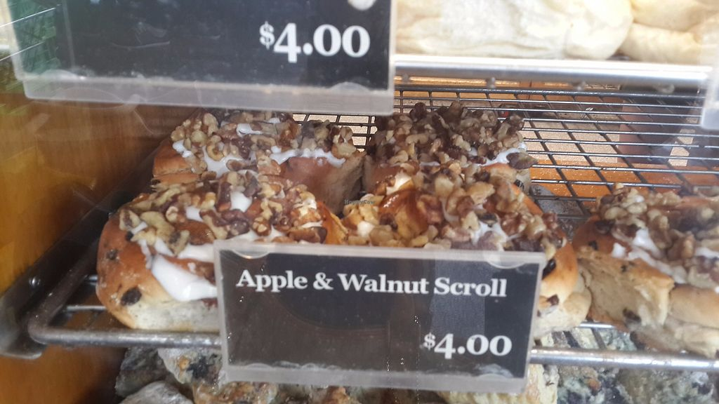 """Photo of Bakers Delight - New Lynn  by <a href=""""/members/profile/lotus.light"""">lotus.light</a> <br/>Apple and walnut scroll (vegan) - $4 each, not bad <br/> November 5, 2017  - <a href='/contact/abuse/image/103470/321900'>Report</a>"""