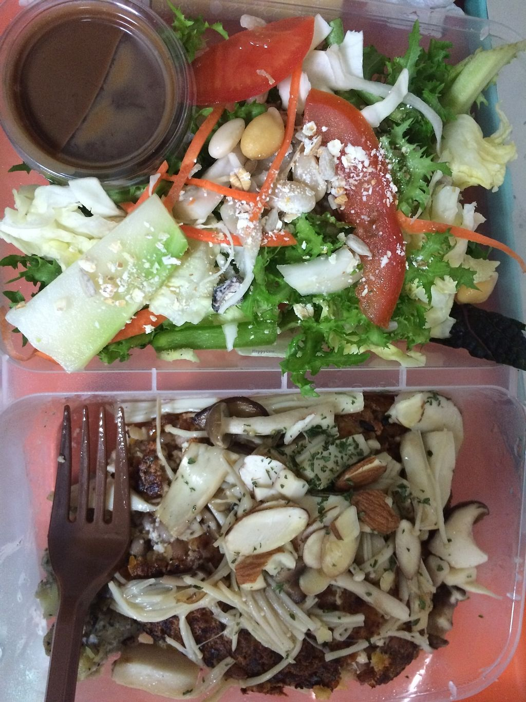 """Photo of Green Table - 초록식탁  by <a href=""""/members/profile/veglover89"""">veglover89</a> <br/>This time they put many yummy mushrooms on top of my burger! :) <br/> November 13, 2017  - <a href='/contact/abuse/image/103478/325087'>Report</a>"""