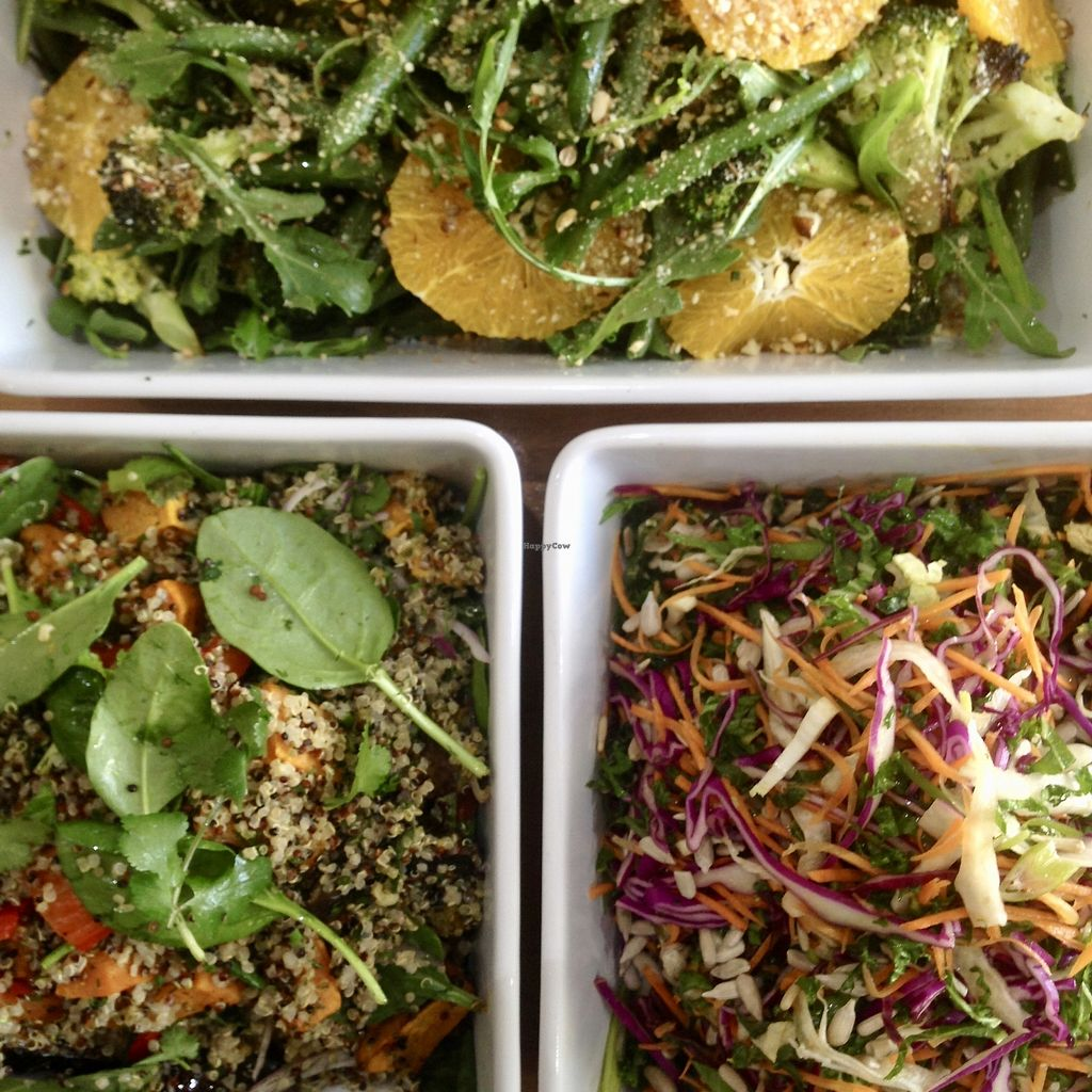 "Photo of Wild Plum Kitchen  by <a href=""/members/profile/AllisonReid"">AllisonReid</a> <br/>Selection of vegan & GF salads prepared fresh in-house daily, with the option to add additional sides eg avocado, mushroom, grilled tomato <br/> October 31, 2017  - <a href='/contact/abuse/image/103479/320298'>Report</a>"