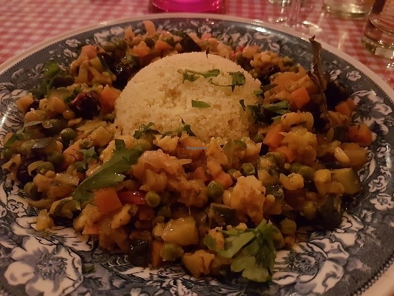 """Photo of Bierbrasserie Brugsche Tafel  by <a href=""""/members/profile/TrudiBruges"""">TrudiBruges</a> <br/>couscous with vegetables <br/> December 7, 2017  - <a href='/contact/abuse/image/103542/333152'>Report</a>"""