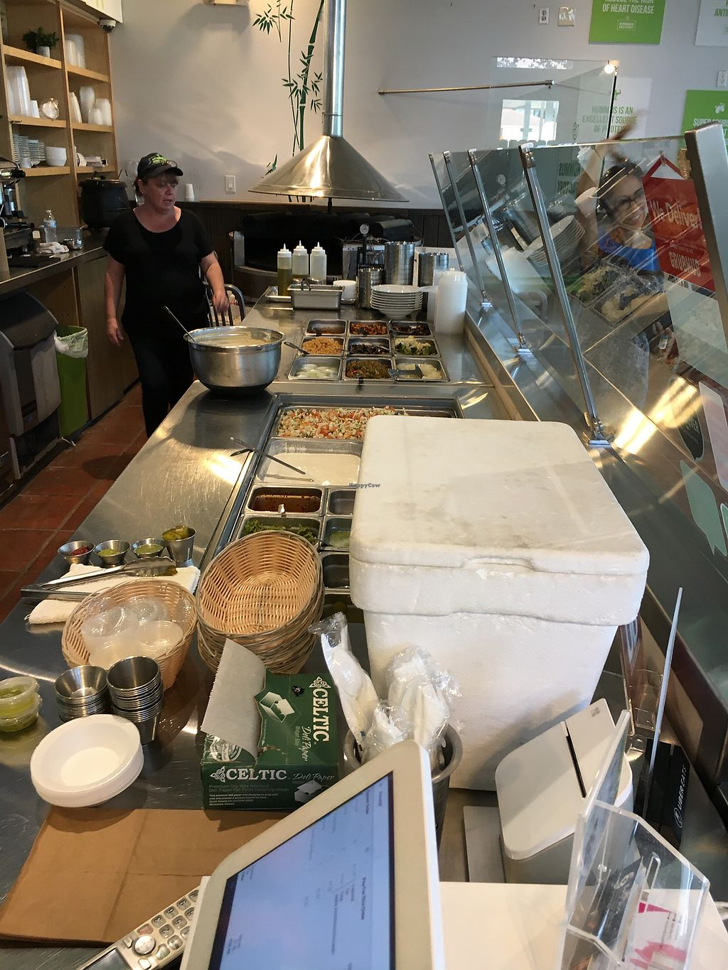"""Photo of The Hummus Factory  by <a href=""""/members/profile/daroff"""">daroff</a> <br/>Prep area <br/> October 24, 2017  - <a href='/contact/abuse/image/103558/318442'>Report</a>"""