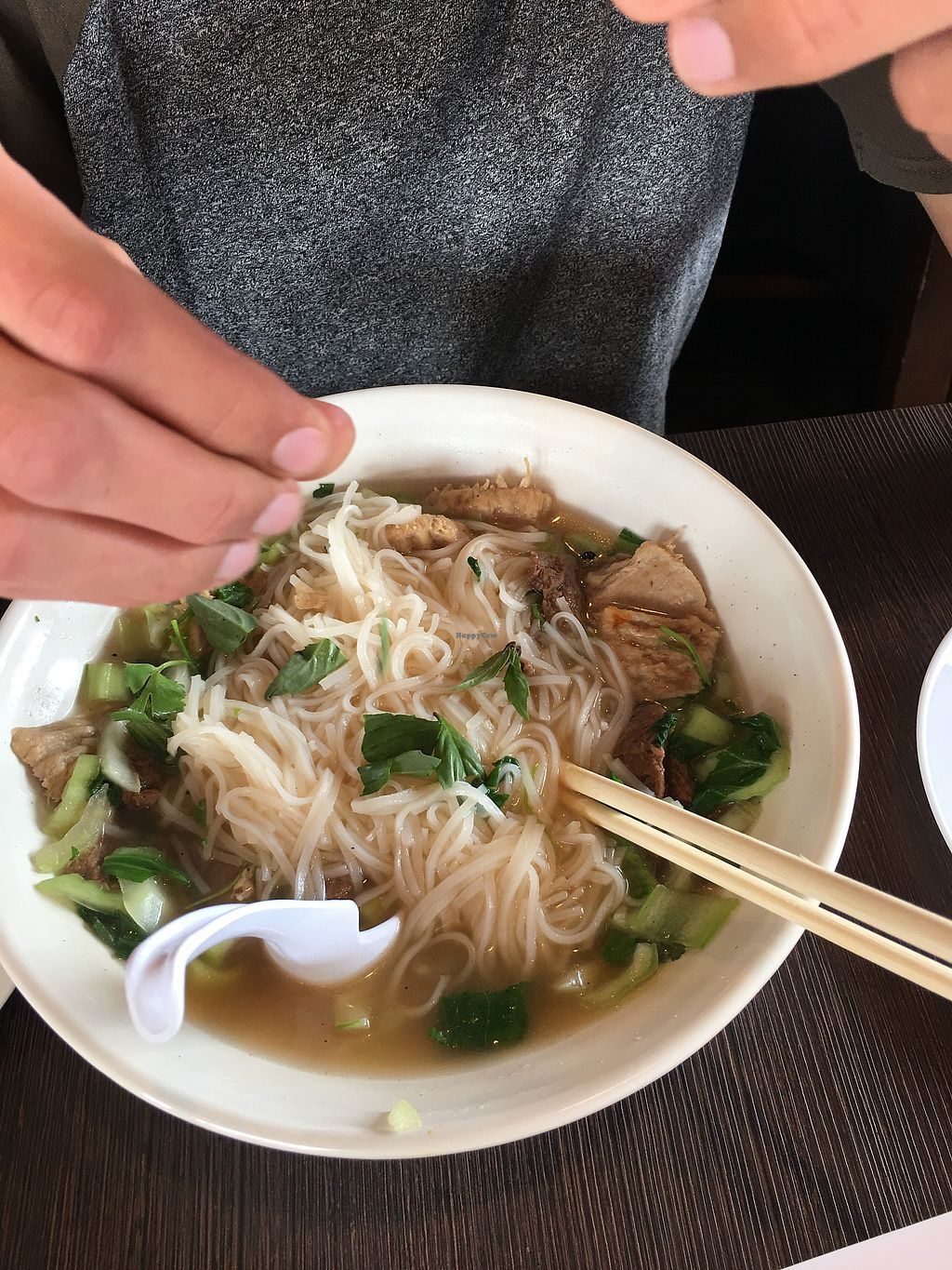 "Photo of VeggiEAT Xpress  by <a href=""/members/profile/lvasquared"">lvasquared</a> <br/>Vegan beef pho <br/> March 17, 2018  - <a href='/contact/abuse/image/103584/372084'>Report</a>"