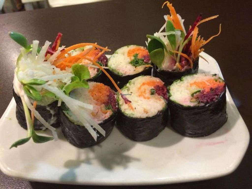 """Photo of New Green Pasture Cafe  by <a href=""""/members/profile/StephanieReinicke"""">StephanieReinicke</a> <br/>Sushi Rolls ❤️Raw❤️ <br/> September 26, 2014  - <a href='/contact/abuse/image/10358/81123'>Report</a>"""
