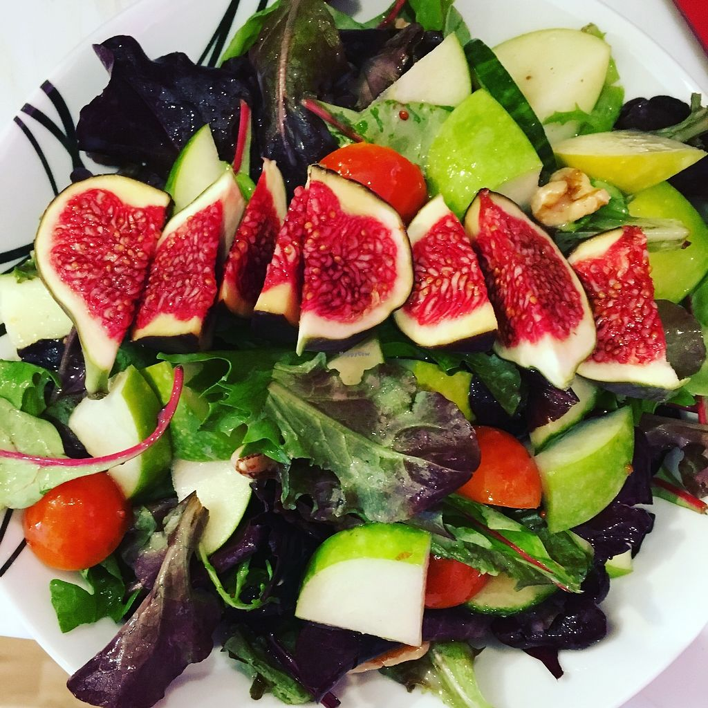 """Photo of Colours Cafe  by <a href=""""/members/profile/DebiDudding"""">DebiDudding</a> <br/>Fig, apple and walnut salad  <br/> October 24, 2017  - <a href='/contact/abuse/image/103597/318489'>Report</a>"""