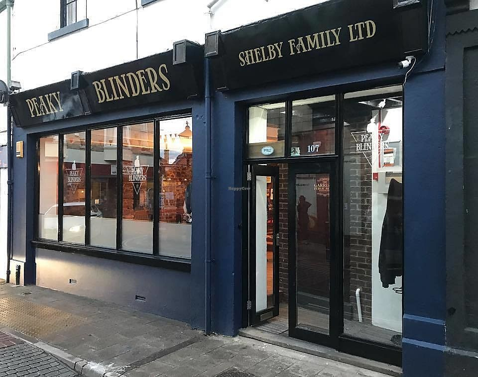 "Photo of Peaky Blinders Bar   by <a href=""/members/profile/Vegan-Vinyl-Avengers"">Vegan-Vinyl-Avengers</a> <br/>The front of Peaky Blinders <br/> November 10, 2017  - <a href='/contact/abuse/image/103614/323919'>Report</a>"