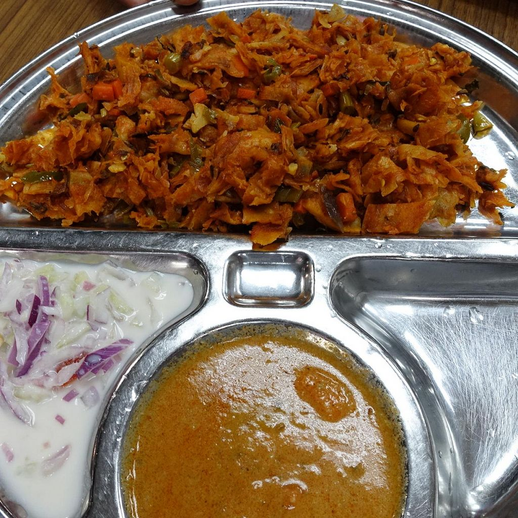 """Photo of Suriya Pure Vegetarian Restaurant  by <a href=""""/members/profile/JimmySeah"""">JimmySeah</a> <br/>Kothu/Masala Prata <br/> March 16, 2015  - <a href='/contact/abuse/image/10365/95860'>Report</a>"""