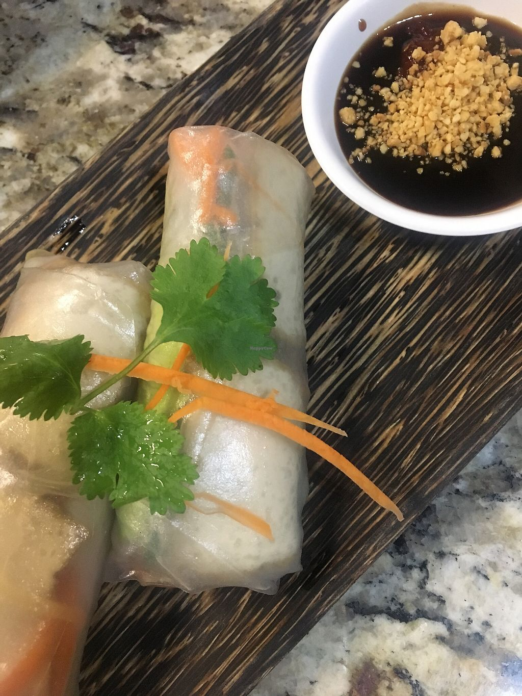 "Photo of Prik Nam Pla Thai Cuisine  by <a href=""/members/profile/Traveling.Plant_Eater"">Traveling.Plant_Eater</a> <br/>Tofu Spring Rolls with Hoisin Sauce <br/> December 3, 2017  - <a href='/contact/abuse/image/103707/331658'>Report</a>"