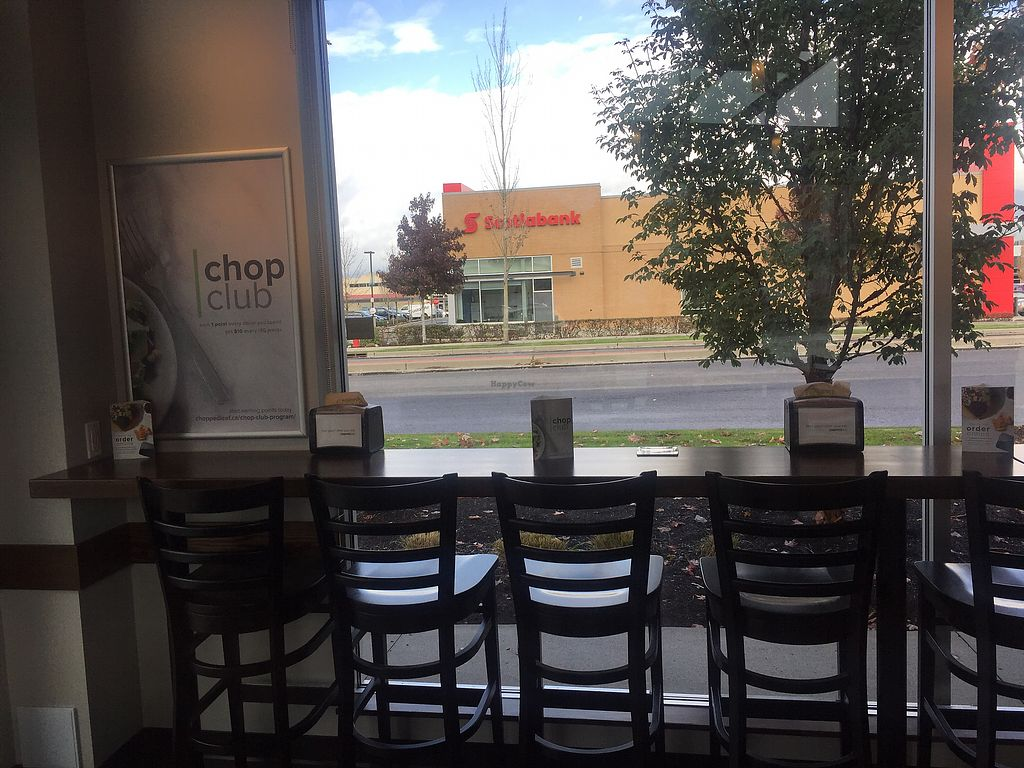 """Photo of The Chopped Leaf  by <a href=""""/members/profile/theresabee"""">theresabee</a> <br/>Seating area - bar-style <br/> October 29, 2017  - <a href='/contact/abuse/image/103709/319953'>Report</a>"""