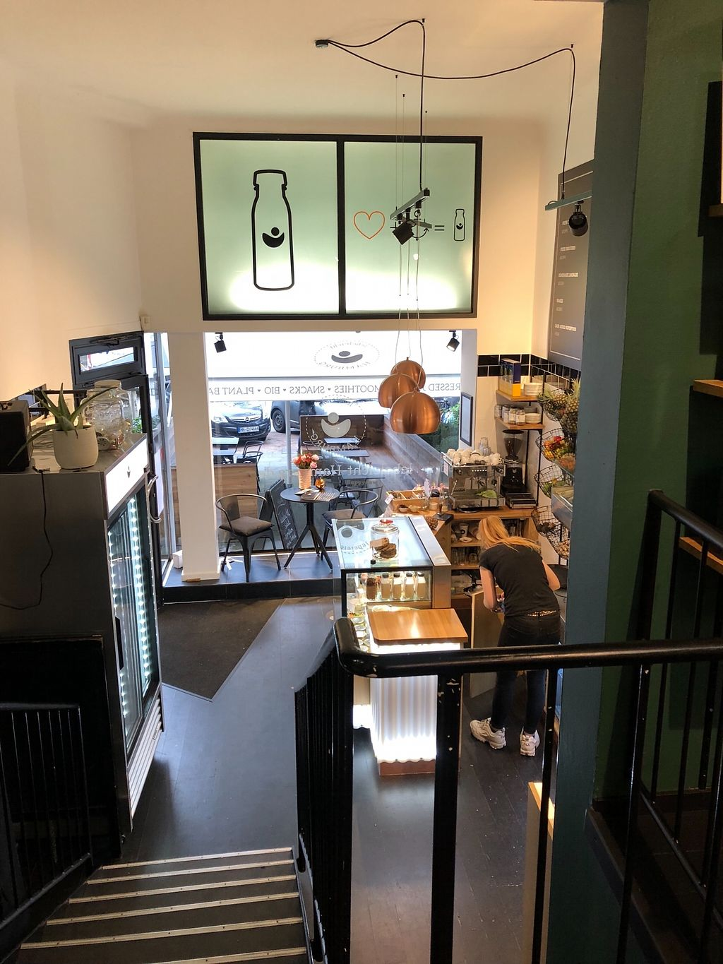 """Photo of Lebeleicht Hamburg  by <a href=""""/members/profile/anninamaier"""">anninamaier</a> <br/>Bottom part of the café <br/> February 7, 2018  - <a href='/contact/abuse/image/103727/356164'>Report</a>"""