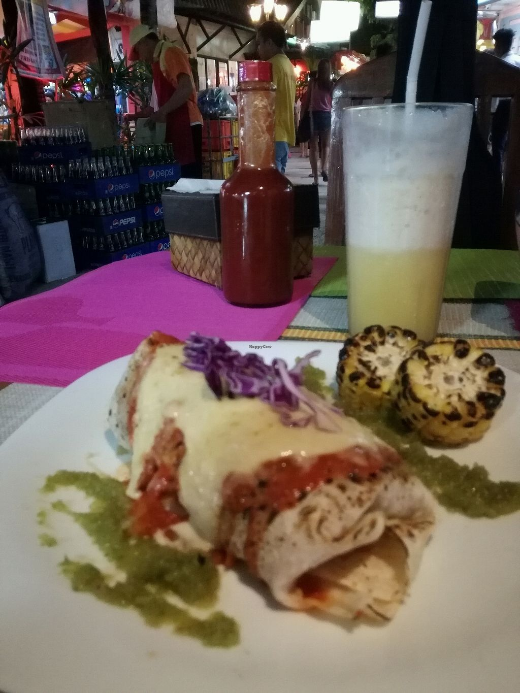 """Photo of Tres Amigos Mexican Cantina  by <a href=""""/members/profile/bex555"""">bex555</a> <br/>vegan enchilada - delicious!! <br/> February 20, 2018  - <a href='/contact/abuse/image/103736/361546'>Report</a>"""
