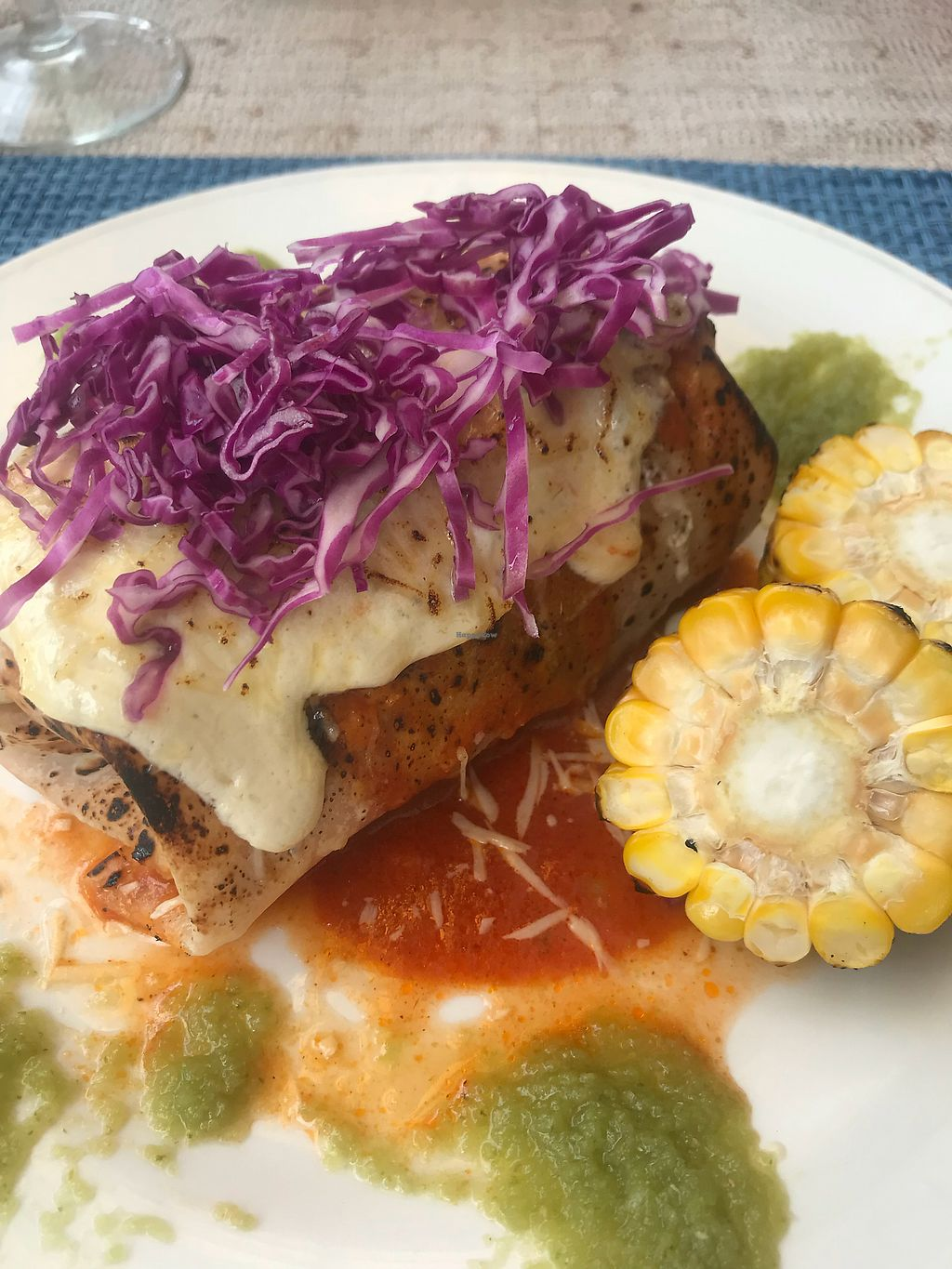 """Photo of Tres Amigos Mexican Cantina  by <a href=""""/members/profile/OliviaFatouros"""">OliviaFatouros</a> <br/>Enchiladas  <br/> March 27, 2018  - <a href='/contact/abuse/image/103736/376644'>Report</a>"""