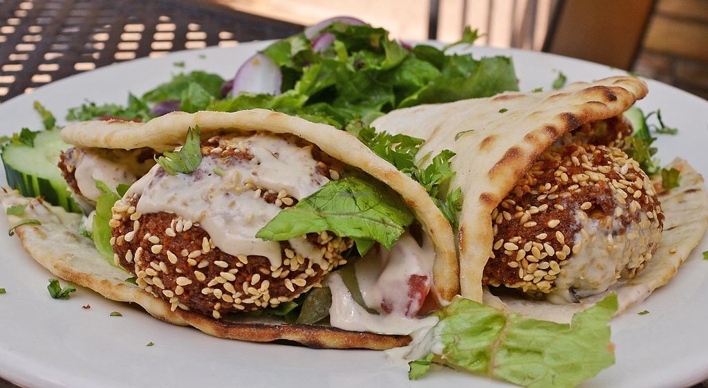 "Photo of Aya's Cafe  by <a href=""/members/profile/American%20Vegan"">American Vegan</a> <br/>falafel sandwich <br/> October 26, 2017  - <a href='/contact/abuse/image/103745/319077'>Report</a>"